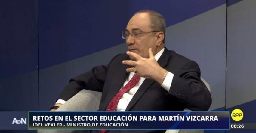 Ministro de Educación no cree que los maestros se plieguen a la huelga convocada por dirigentes «no reconocidos»