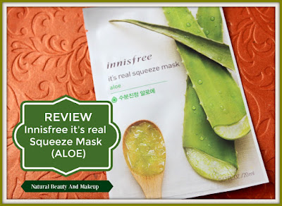 Innisfree It's Real Squeeze Aloe Sheet Mask Product