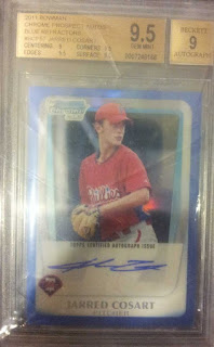 Jarred Cosart 2011 Bowman Chrome Autograph Blue Refractor /150 BGS 9.5 10 Auto Pitcher Houston Astros