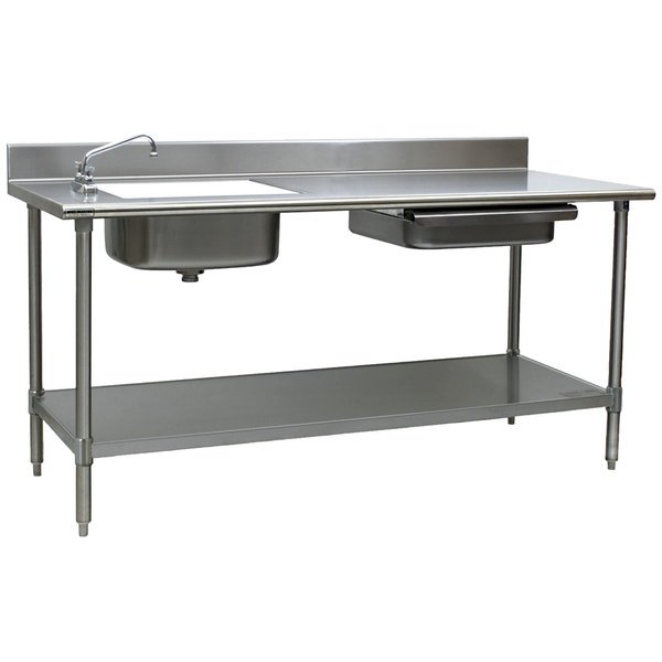 Stainless Steel Preparation Table with Sink