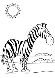 Adorable Zebra Coloring Pages Animals