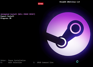 Fake Prank Steam OS Install