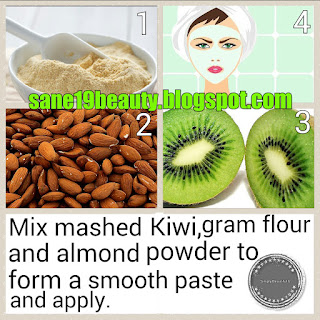 Kiwi-Almond face pack.