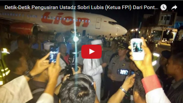 Ini Video Polisi Usir Ketum FPI KH Sobri Lubis di Pontianak