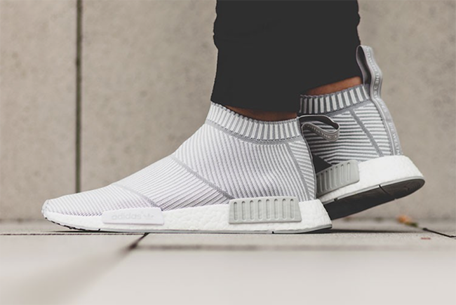 buy online 11411 eb239 On-Feet Look at the 'White Grey' adidas NMD City Sock PK ...