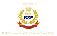 BSF Paramedical Staff Admit Card