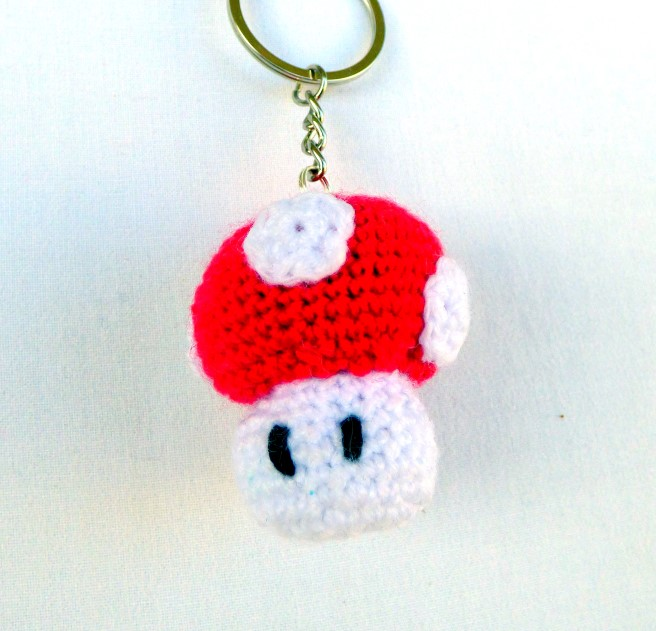 Amvabe Crochet Crochet Super Mario Mushroom Keychains Look What I