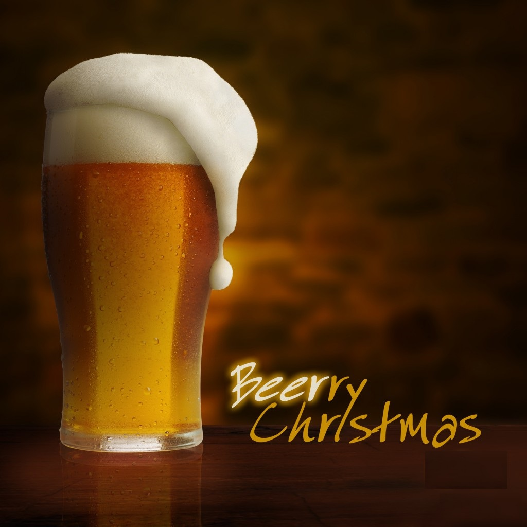 merry christmas happy new year beer