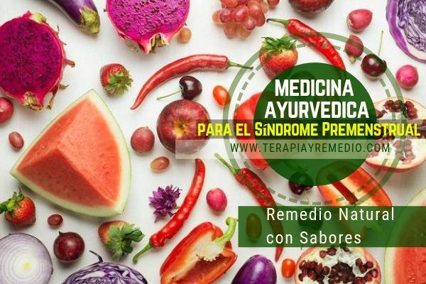 Medicina ayurvédica para el síndrome premenstrual. Remedio natural con sabores