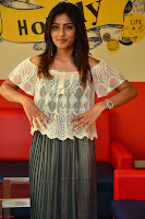 Eesha in a cute deep neck top and Skirt at at Big FM 093.JPG
