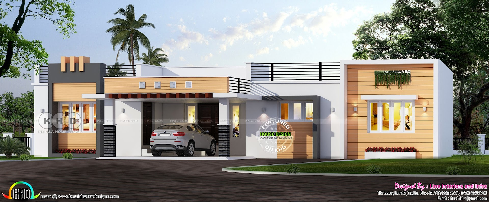 One Floor Wide Home In 2200 Square Feet Kerala Home