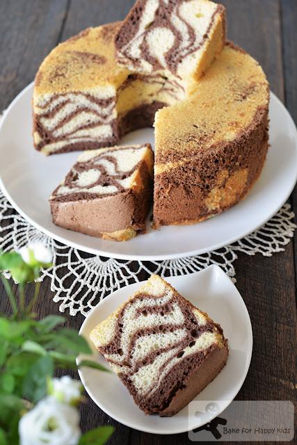 ultra soft almond zebra chiffon cake