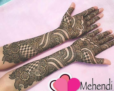 Girls & womans will definitely loking gorgeous with these mehandi designs for full hand.