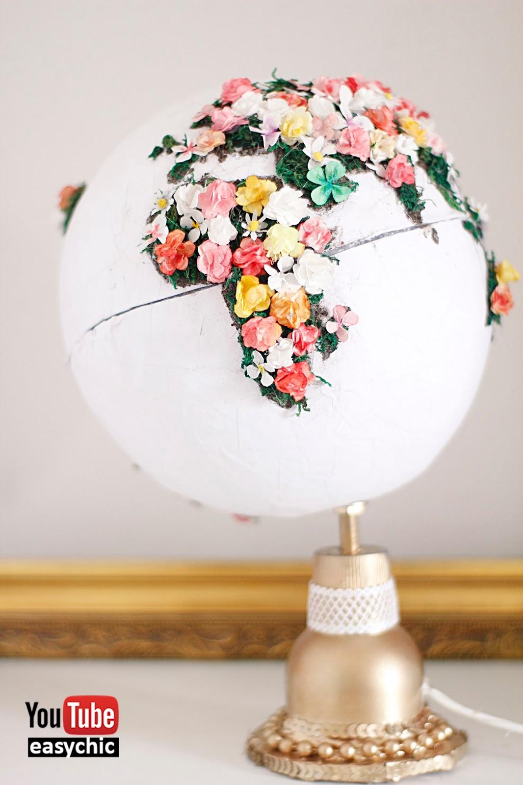 Easychic diadelatierra como hacer un globo terr queo - Decoracion vintage reciclado ...