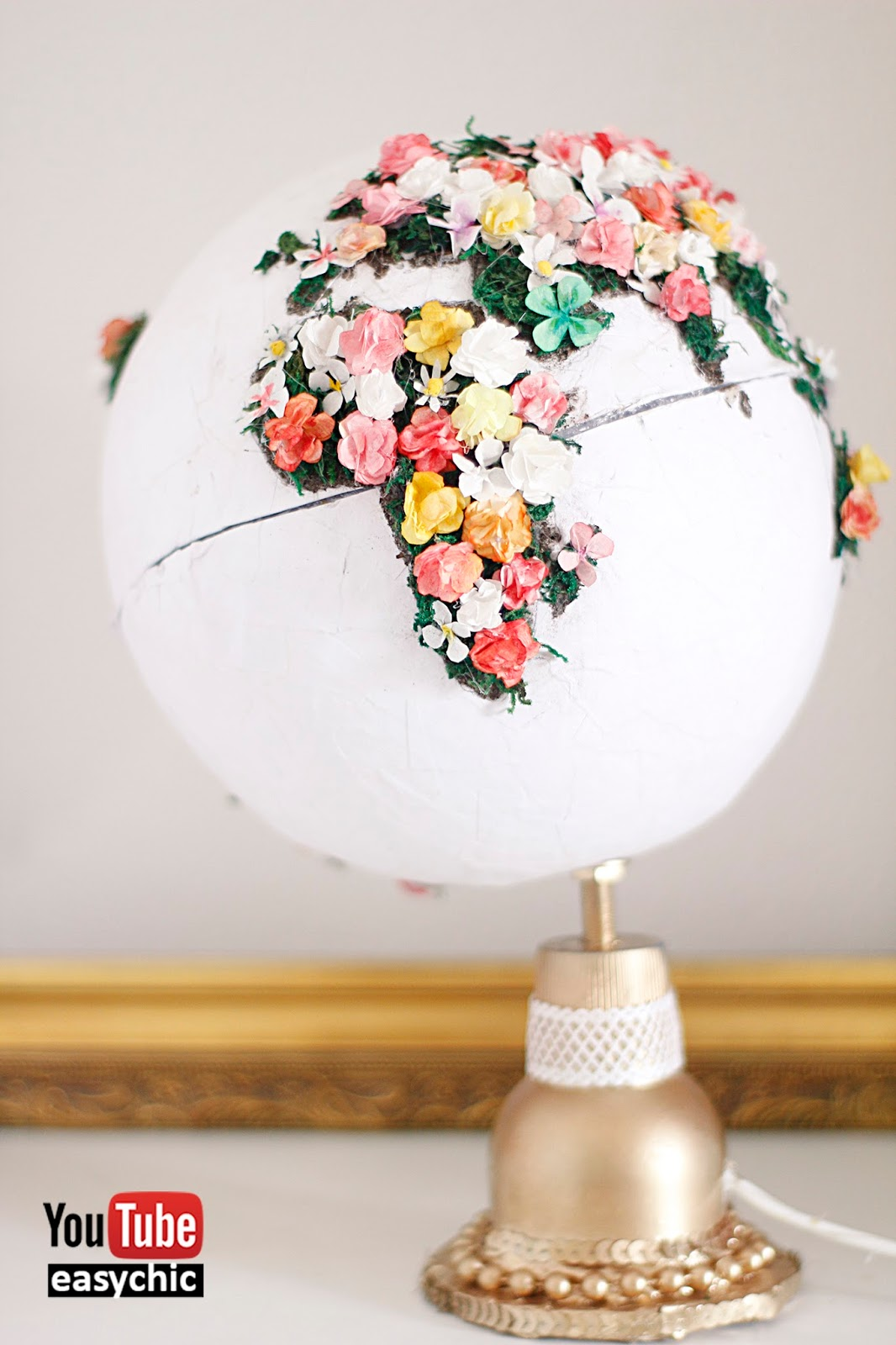 Easychic diadelatierra como hacer un globo terr queo - Globo terraqueo decoracion ...