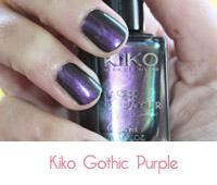 vernis à ongles de kiko Gothic purple