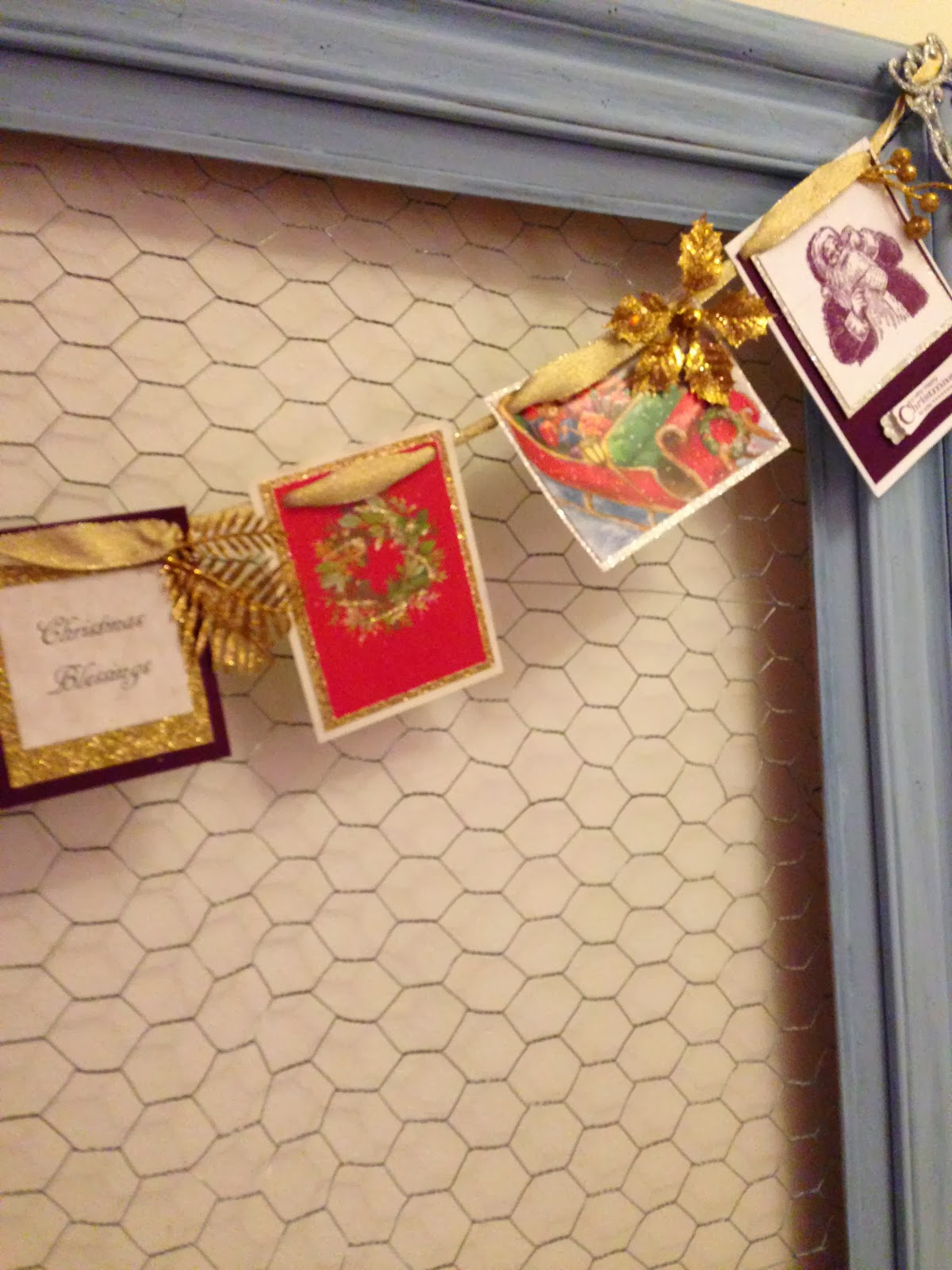 REPURPOSED CHRISTMAS CARDS