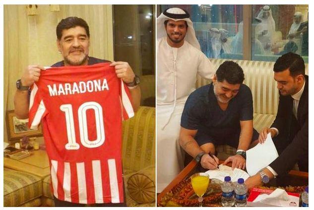 Legend Diego Maradona Makes Shock Return To Football Management In UAE (Photos)