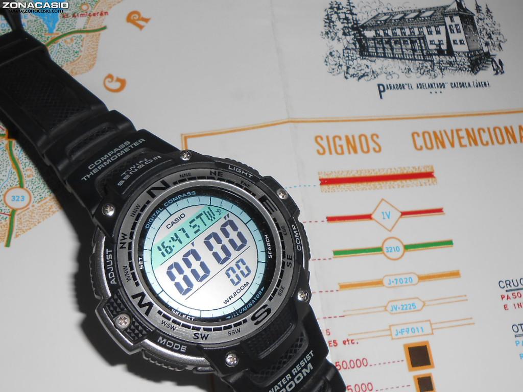 Zona Reloj Siempre Tu Con Brújula¡y Podrás CasioUn MapaY derCWxEQBo