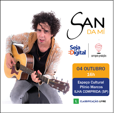 Show do Sandamí na quinta 4/10 integra a programação da Caravana da TV Digital