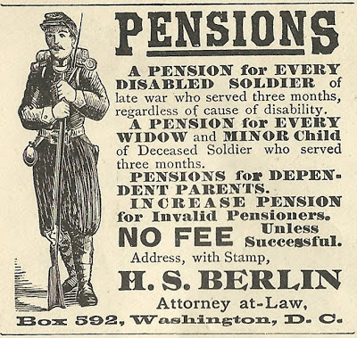 Civil War Veterans Pensions