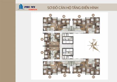 Mặt bằng căn hộ chung cư N01 T4 Ngoại Giao Đoàn