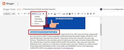 Cara Memposting Artikel di Blogger Lengkap dan Mudah