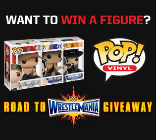 win WWE pop vinyl figure giveaway