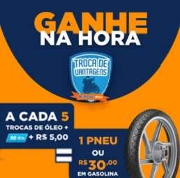 Promoção ipiranga 2018 Troca de Vantagens Ganhe 1 Pneu ou 30 Reais Gasolina