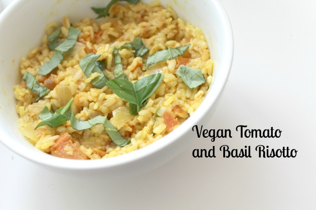 Vegan tomato and basil risotto from Nourish ME - www.nourishmeblog.co.uk
