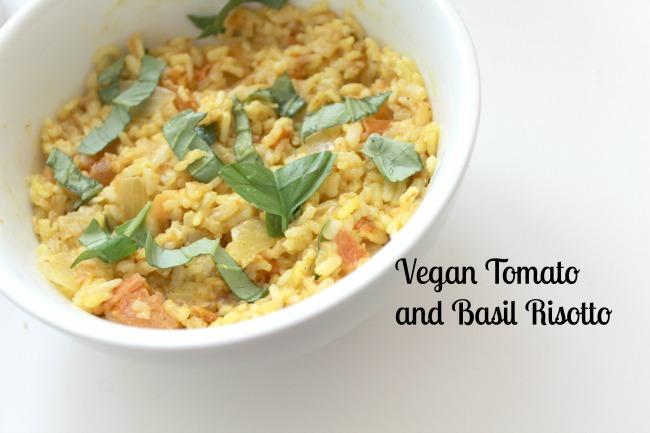Vegan tomato and basil risotto from Nourish ME - www.nourishmeblog.co.uk