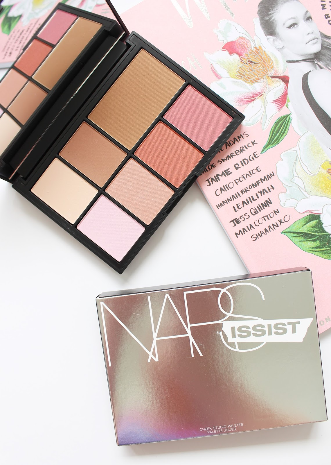 NARS | Narissist Cheek Palette - Review + Swatches - CassandraMyee