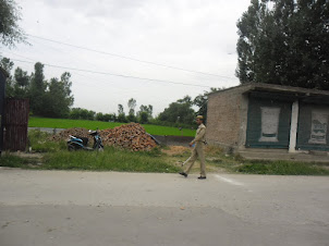 Security patrol in Srinagar .