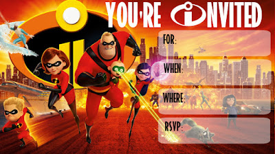 Incredibles 2 Birthday printables