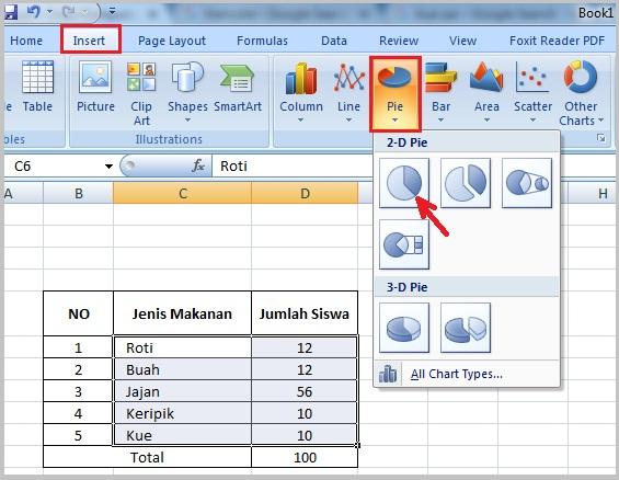 Cara Membuat Pie Chart Di Microsoft Excel 2010: Cara Membuat Pie Chart di Excel | Diagram Pie Atau Diagram ,Chart