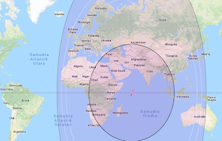 Beam Coverage Satellite Intelsat 33E 60.0°E C Band