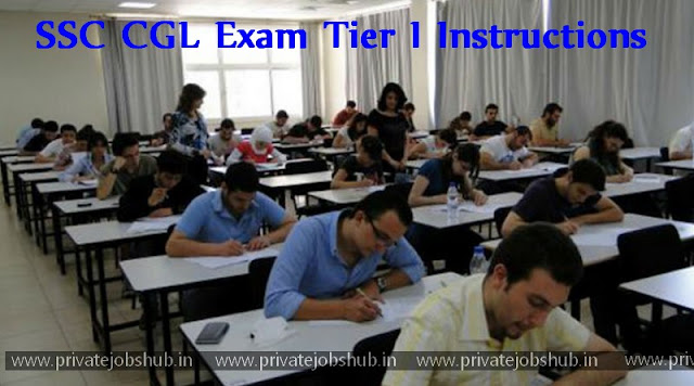 SSC CGL Exam Tier I Instructions