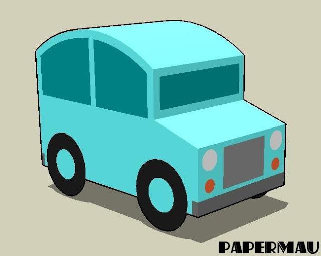 Easy To Build Little Car Paper Model For Kids