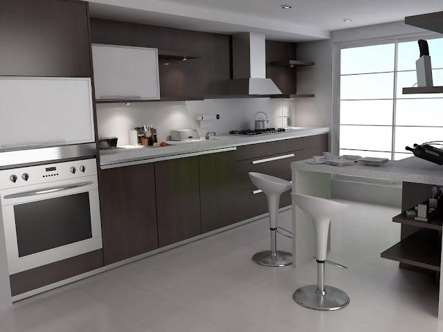 Desain dapur dari rumah minimlis type 45