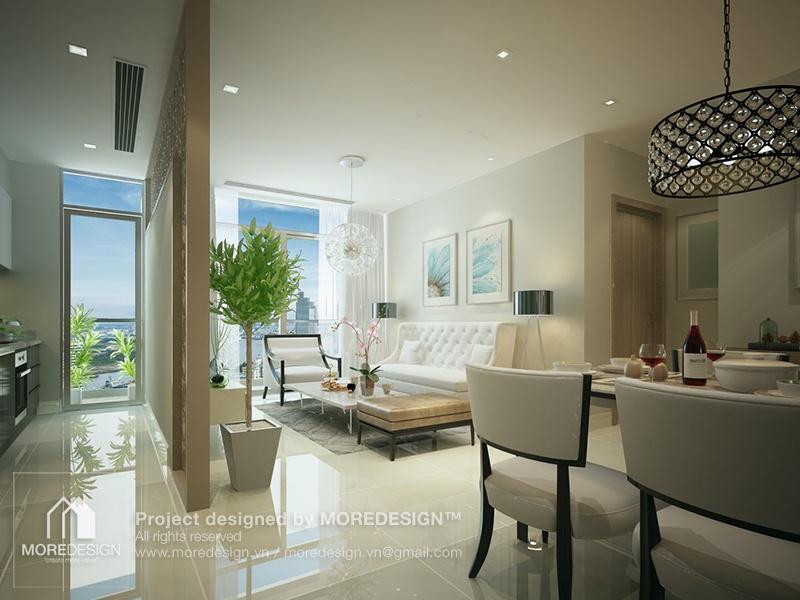 Thiết kế nội thất chung cư 48m2 Galaxy 9