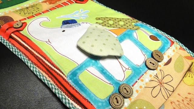 Кармашки в шкафчик Слоник Пожарная машина - подарок мальчику, детский карман в садик