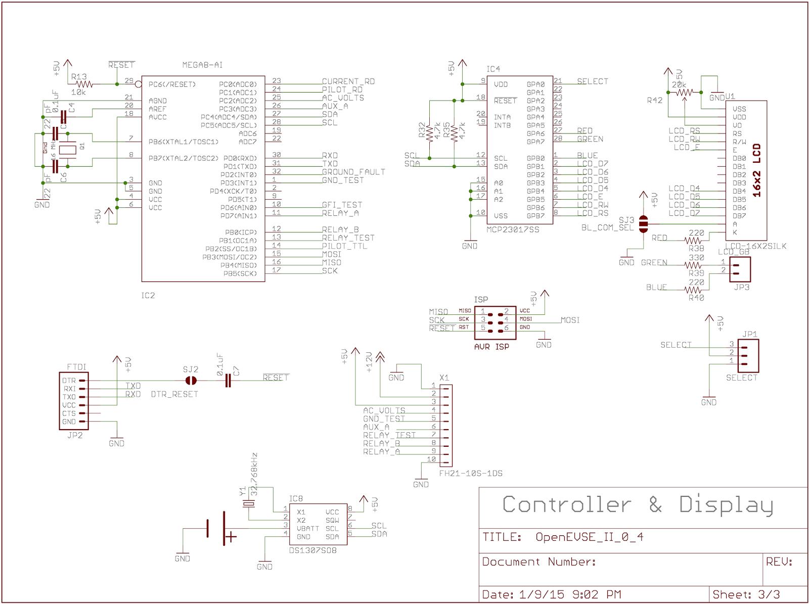Geppetto Electronics Openevse Ii Logic Display Board