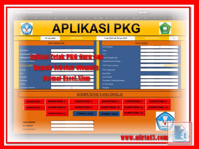 Aplikasi PKG Tingkat TK SD SMP SMA Format Excel.Xlsm
