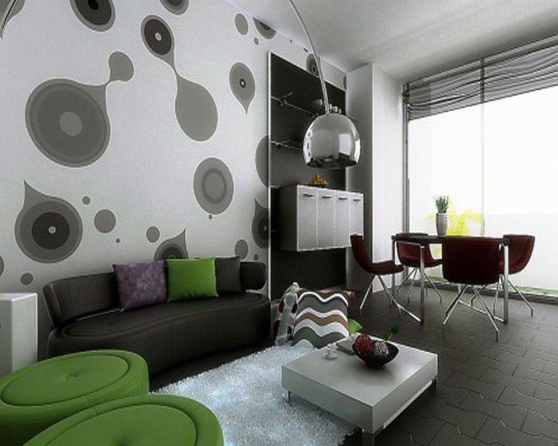 Contoh Wallpaper Dinding Ruang Tamu