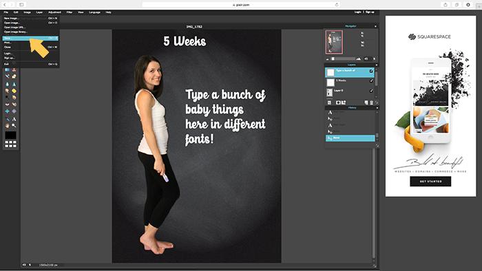 tutorial: creating pregnancy progress photos without