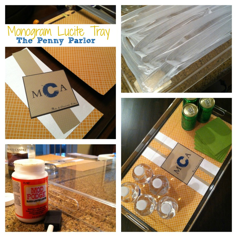 The Penny Parlor Diy Monogrammed Lucite {acrylic} Tray