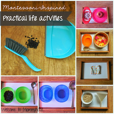Montessori Practical life ideas by Welcome to Mommyhood. #montessori, #practicallife, #montessoripracticallifeideas