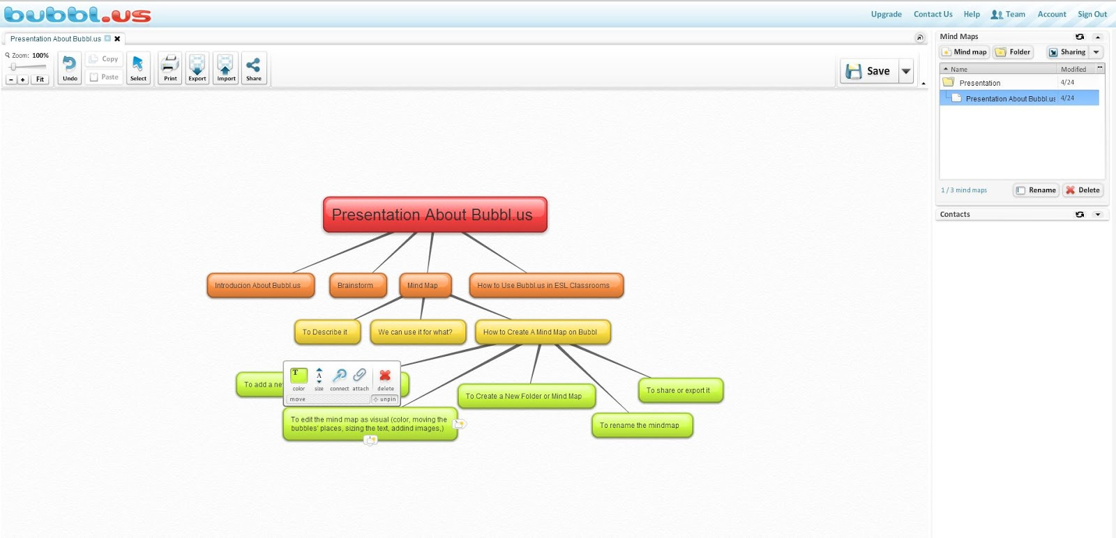 speak english so that the world will be a new world bubbl us concept map - Bubblus Mind Map