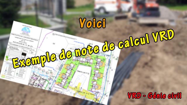 Note de calcul VRD en génie civil PDF