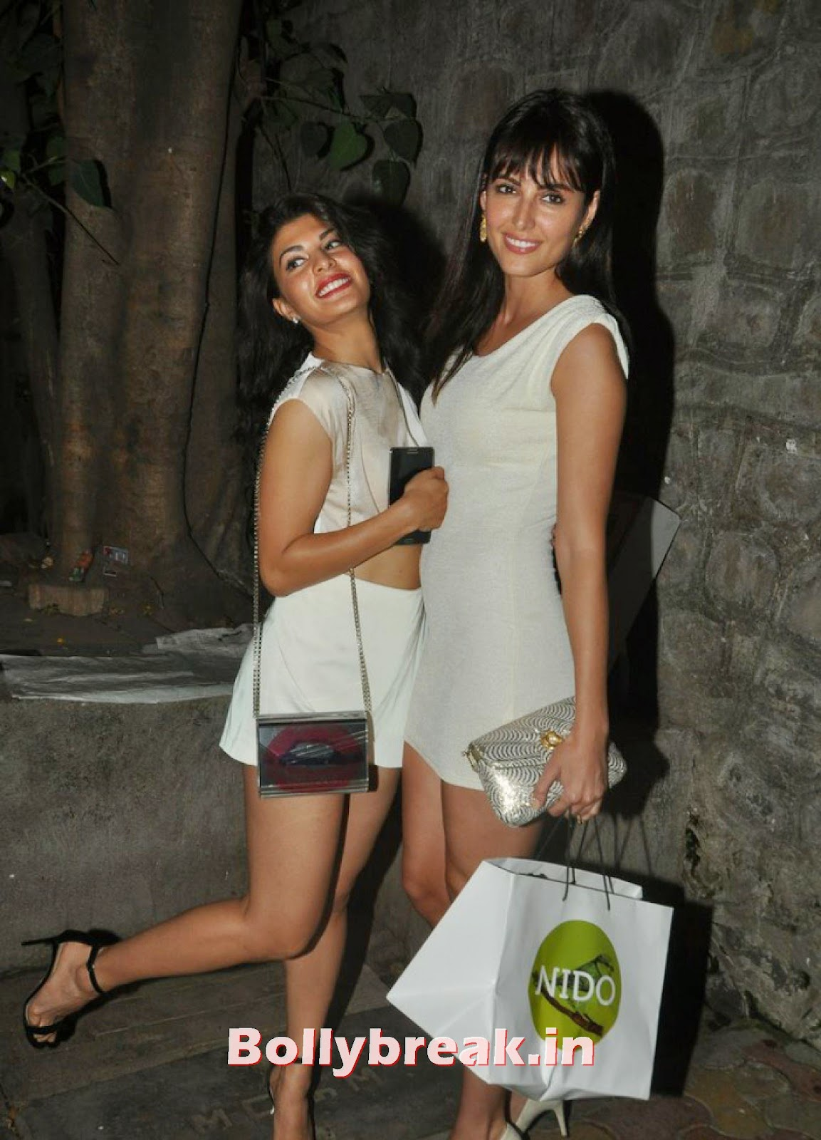 , Hot Jacqueline Fernandez Snapped Outside Nido in White Dress